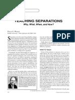 Teaching Separations Wankat