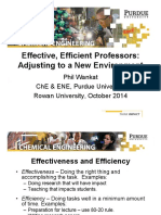 Rowan Effective Efficient Professors