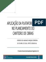 Plataforma BIM Para Projeto de Canteiros ENEC 2016