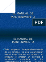 EL MANUAL DE MANTENIMIENTO.ppt
