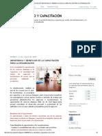 Entrenamiento y Capacitación_ Importancia y Beneficios de La Capacitación Para La Organización