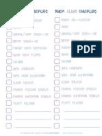 2 Column Quick Clean Checklist