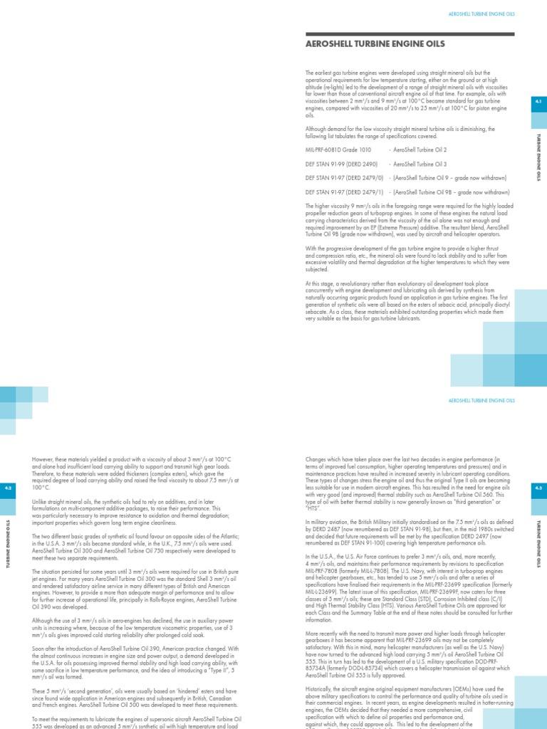 aeroshell-book-4teo02121 pdf | Motor Oil | Gas Turbine