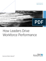 How Leaders Drive Workforce Performance