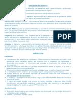 Descripción Del Producto, Analisis FODA Mezcla Promocional, Competencia & Mercado Neto