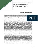Filosofia y Compromiso en Derrida y Levinas