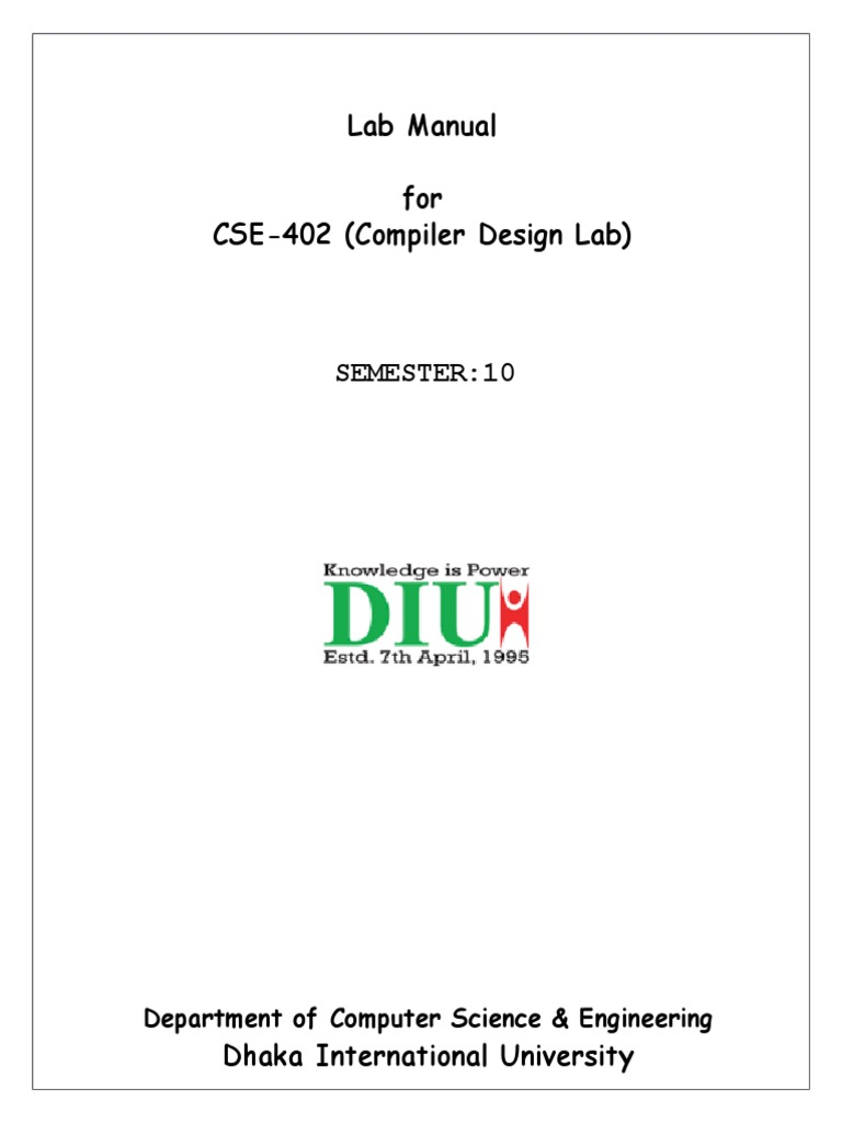 E21baa Principles Of Compiler Design Lab Manual Wiring Library