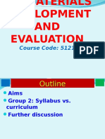 Curriculum and Syllabus