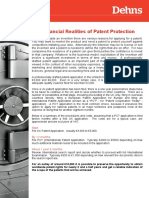 The Financial Realities of Patent Protection