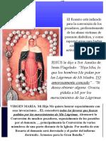 Rosario de Las Lagrimas y Lagrimas de sangre de la Virgen