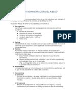 Proceso de la Administracion Del Riesgo