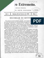 Archivo Extremeño nº 1 de 1908