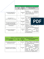 agenda de actividades historia 1