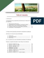 Tabla de Contenidos de jurisprudencia ambiental