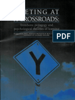 meeting at a crossroads- trombone pedagogy and psychological theories of learning