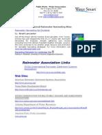 Rainwater Harvesting Resources - Rainwater Association Links