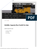 30,000lb. Capacity Rico Forklift for Sale _ Call 616-200-4308