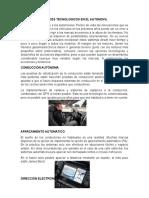 Avances Tecnologicos en El Automovil