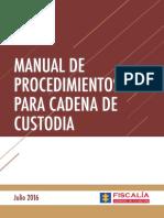 Manual_de_procedimientos Para Cadena de Custodia 2016