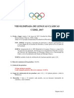 2ª Circular VIII Olimpiada de Lenguas Clásicas Cadiz-2017