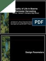 Quality of Life in Boerne Rainwater Harvesting