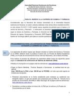 1 Procedimientos de Carrera de Quimica y Farmacia Primer Ingreso 1p 2015
