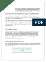 Physical Interpretation of Schrodinger's equation