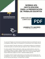 Normas APA Presentación Uniminuto 25 Años