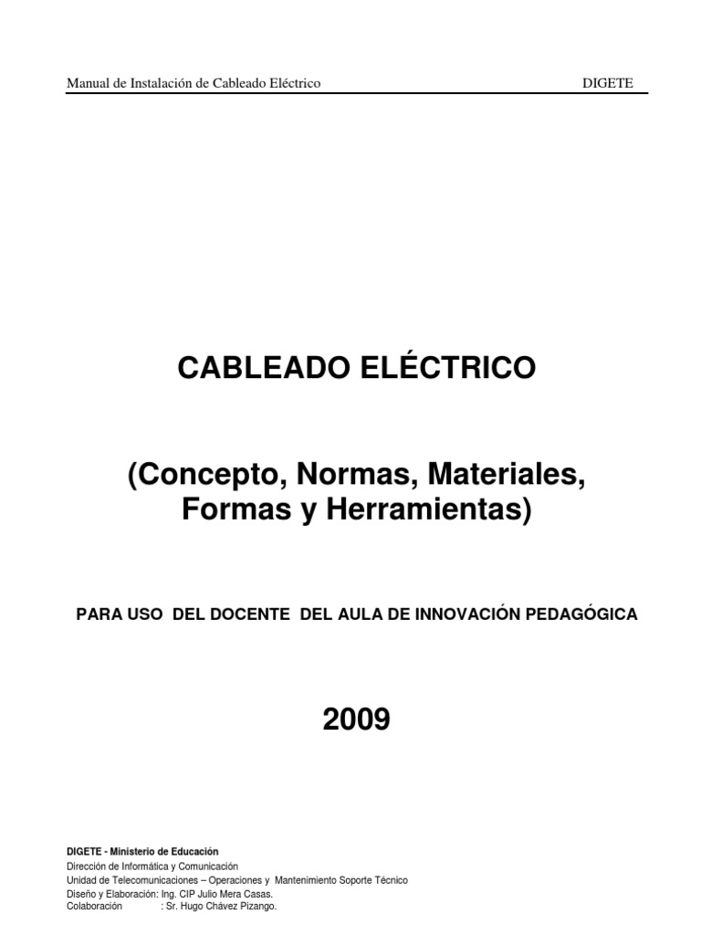 Manual De Cableado Electrico V