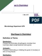 Desinfeksi Dan Sterilisasi - 4 Mei 2017