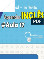 Aprender inglês, To Read, To Write Aula 17 | English Channel