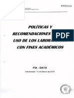 Mv2 Políticas y Recom. Para Uso de Lab. Con Fines Acad. -Fia