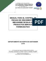 Manual Para Control d Efechas de Vencimeinto y y Mecanismos d Ebaja en Framacia