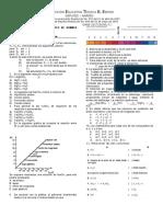 Evaluacion Tipo Icfes de Quimica Decimo Sales Inorganicas Iete 2017