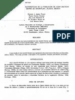 (1996)Nueva Localidad y Caracteristicas de La Poblacion de Acer.