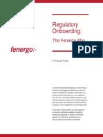Regulatory Onboarding the Fenergo Way US