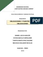 Obligaciones y Fuernte de Las Obligaciones!!