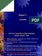 Bagian 7 - Subsidi