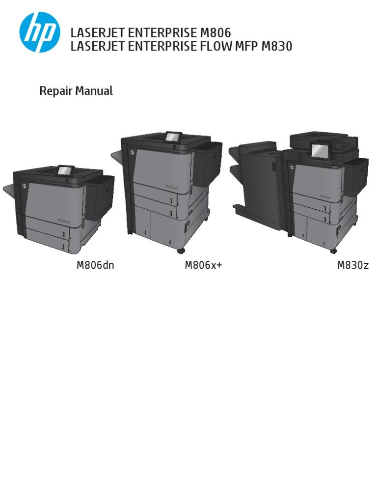 M806 M830 Mfp Repair Manual Copyright Hewlett Packard Hp Laserjet 1100a Service