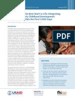 Giving Children Best Start Intergrating Nutrition 1000days