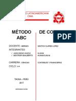 Metodo de Costos ABC