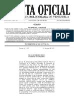 Gaceta Oficial Extraordinaria N° 6295 Decreto Convocatoria a Asamblea Nacional Constituyente