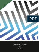 Christian Lacroix Fall 2017 Catalog