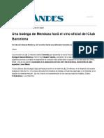 Una bodega de Mendoza hará el vino oficial del Club Barcelona
