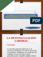 DESVINCULACIÓN LABORAL 2017