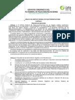 Estatuto Organico IFT