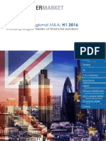 Global and Regional MA Activity During H1 2016 Including Financial Advisor League Tables