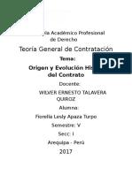 Monografia de Origen y Evolución Histórica del Contrato