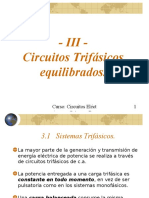 TEMA III - Teoría CA - Circuitos Trifásicos Equilibrados