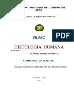 Silabo de Histologia 2017-i